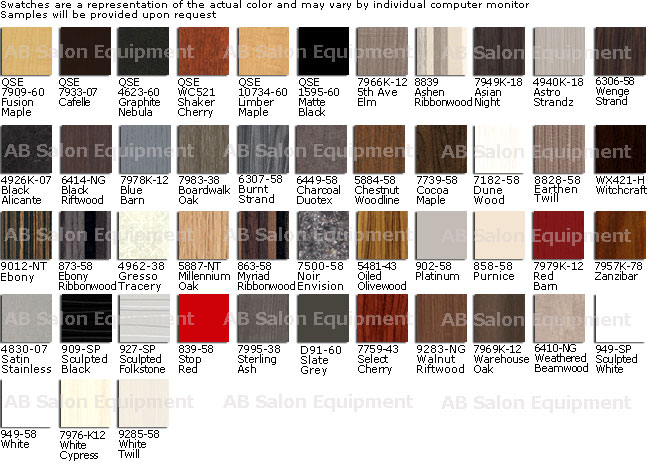 Collins Standard Laminate Colors