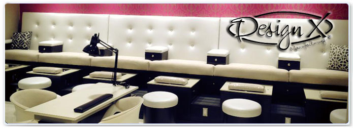 Design x manufacturing inc salon spa nail for Design x salon furniture