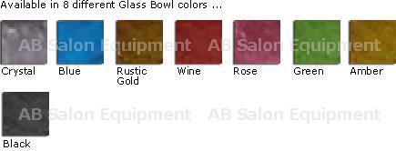 La Fleur Bench Glass Basin Colors