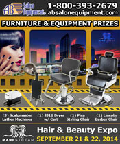 ManeStream Hair and Beauty Expo - October 27th - 28th, 2013 - Equipment and Furniture Prizes Provided By AB Salon Equipment Booth # 140, 142, 146