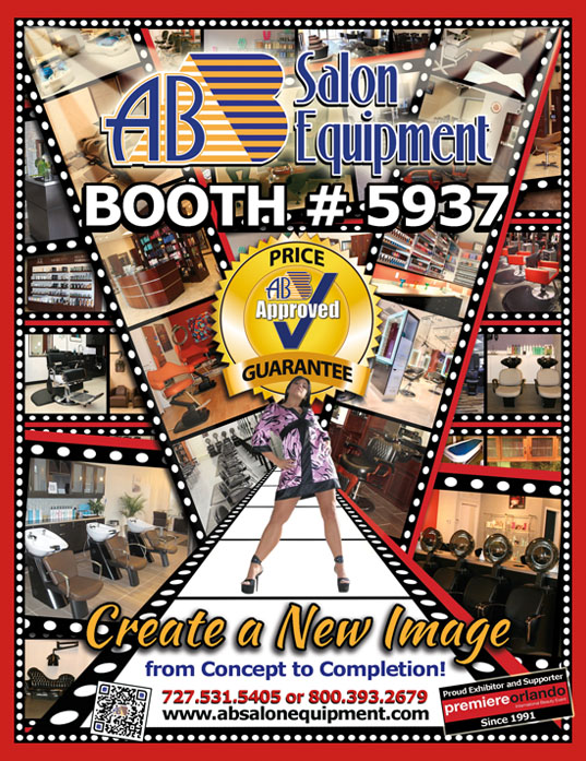 Ab salon equipment booth 5937 premiere orlando for Ab salon equipment