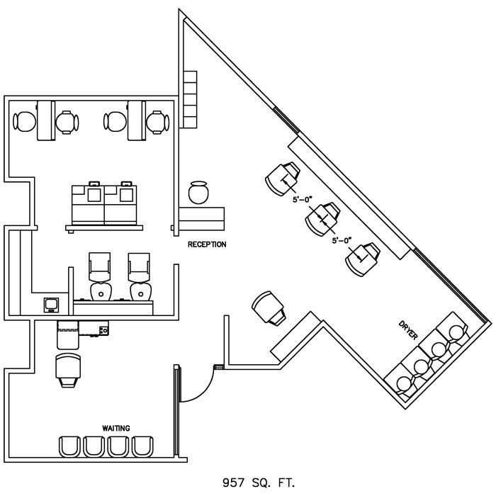 Barber Shop Floor Plans