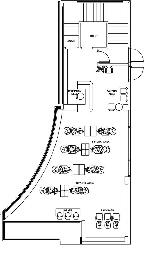 مخططات صالون تجميل مخطط بمساحات مختلفة صالون تصاميم جاهزة لصالون تصميم مركز