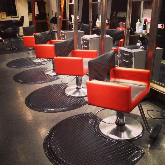 Salon interior design by ab salon equipment salon orange for Ab salon equipment