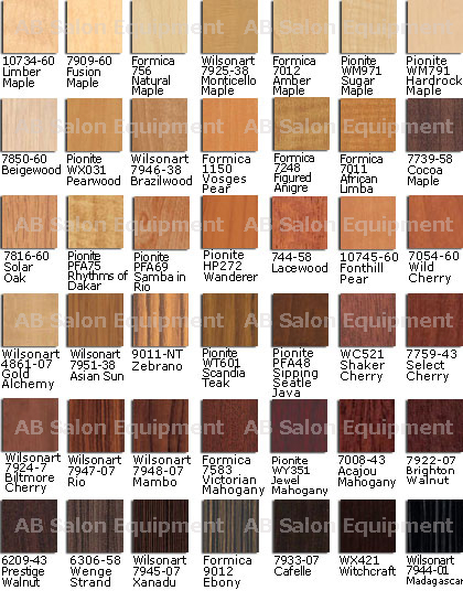 AB Select Laminate Colors