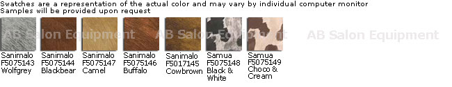 Belvedere Skai WBX Cow-Mania Sanimalo & Samua Upholstery Colors