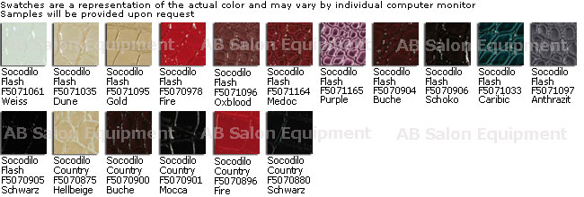Belvedere WBX Skai Socodilo Flash & Country Upholstery Colors