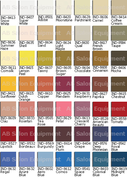 Garfield International upholstery colors