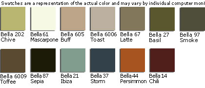 Gulfstream Custom Fabric Colors - Bella