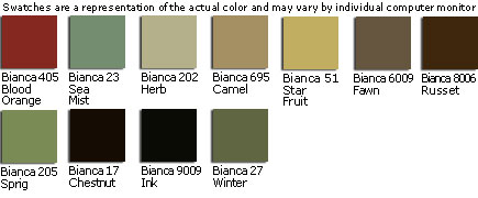 Gulfstream Custom Fabric Colors - Bianca