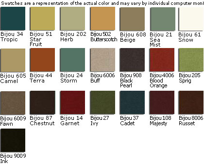 Gulfstream Custom Fabric Colors - Bijou