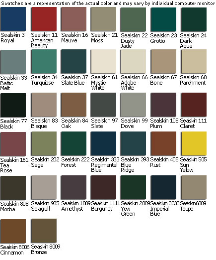 Gulfstream Custom Upholstery Colors - SealSkin