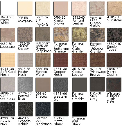 Koken Laminate Colors