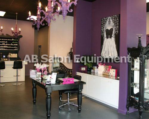 Salon color bar reception area for A b salon equipment