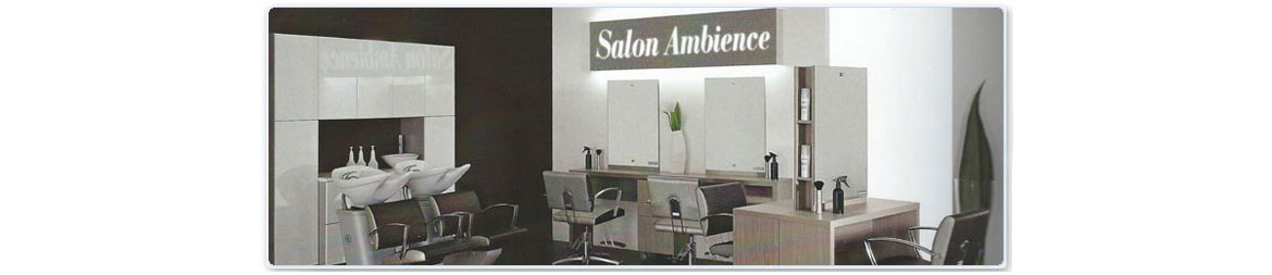 Salon Ambience, Italian Salon Furniture, Salon Chairs, Backwash Units
