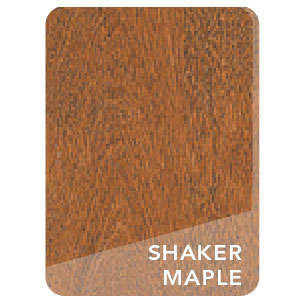 LEC Shaker Maple Stain