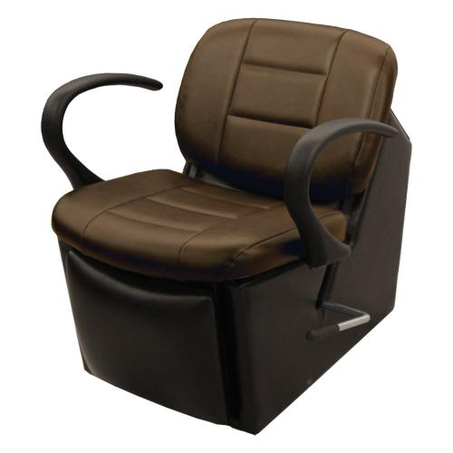 Collins QSE 12ES Kelsey 59 Electric Shampoo Chair w/ Kick-Out Legrest, Chassis in Black