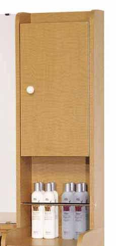 Belvedere K035-13R Customline Upper Shampoo Cabinet w/ Right Side Hinge for K033 & K034