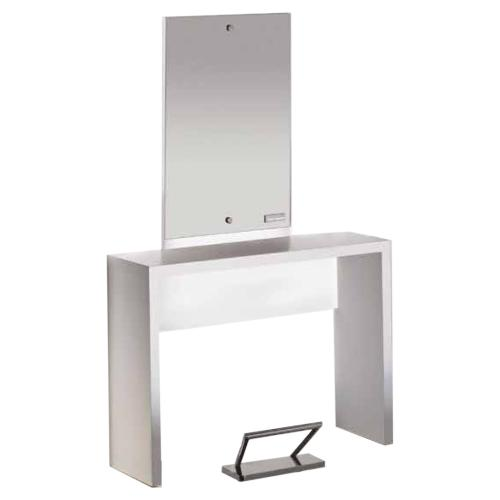 Salon Ambience MI/245 Flat Single Wall Station - White