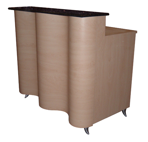 AB Salon Equipment 00900 Wavy Reception Desk