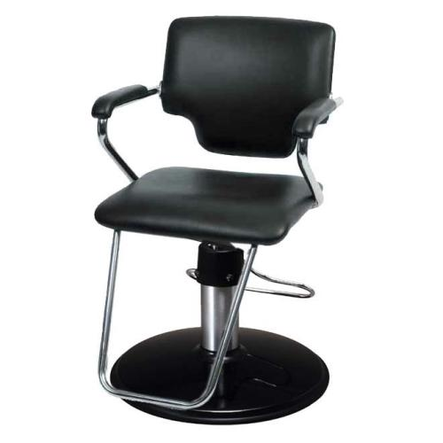 Belvedere PSBL82-BL Belle Hair Styling Salon Chair w/ PSCB12BC Base