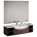 Salon Ambience MM/081 Horizon Wenge Barber Station with Basin