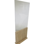 Q63841TFL-CL Tall Clear Acrylic Partition