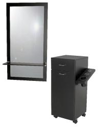 Jeffco J06 Java Portable Styling Station w/ J05 Mirror