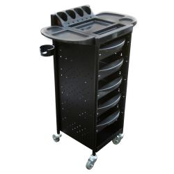 Salon Equipment Pros SEP-T58BLK Sarah Metal Salon Trolley