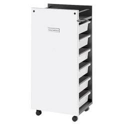 Salon Ambience TR/13 Glam Trolley White Panels - White Trays