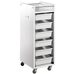 Salon Ambience TR/07 Glam Trolley - White Ash