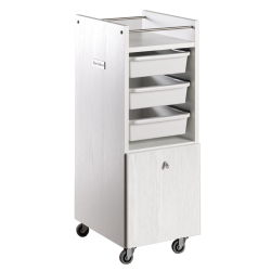 Salon Ambience TR/47 Style White Ash Trolley