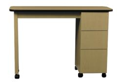 AB Salon Equipment 00281 Econo Three Drawer Nail Table