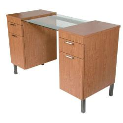 "Collins 973-48 Enova 48"" Nail Table w/ Glass Surface"