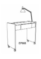 Koken EP668V Starion Vented Manicure Table