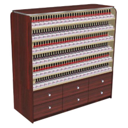 AYC Avon Polish Rack with Cabinets