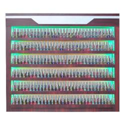 AB Atmosphere Verona Polish Rack with LED Lights