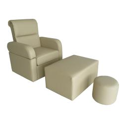 Touch America 31008 Harmony Foot Massage Chair, Ottoman & Stool Set