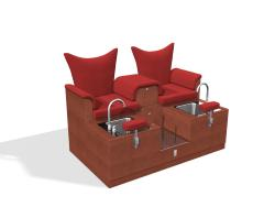 Design X 4704-D Kingston Loveseat Pedicure Spa