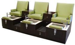 Design X DX-101P Lounge Triple Unit Pedicure Spa