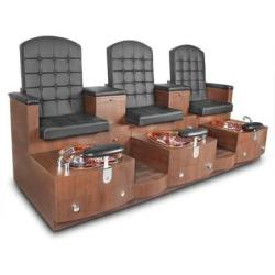 Gulfstream Paris Triple Bench Pedicure Bench Spa