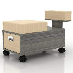 AYC Alera Pedicure Stool & Cart w/ Footrest