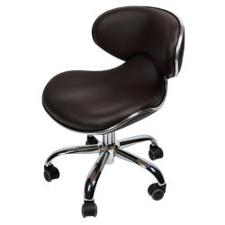 "J & A Euro Pedicure Stool 13"" to 16"" - Chocolate"