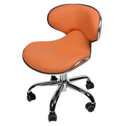 "J & A USA Euro Pedicure Stool 13"" to 16"" - Orange"