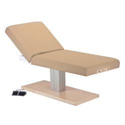 Earthlite Everest Spa Manual Tilt Single Pedestal Electric Lift Treatment Table