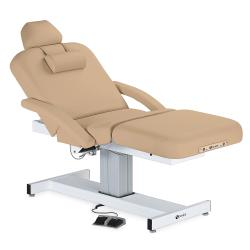 Earthlite Everest Pneumatic Gas Assist Salon Top Single Pedestal Electric Lift Massage Table w/ Accessories