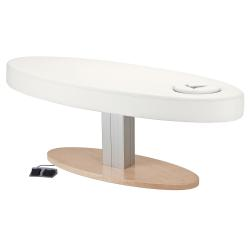 Living Earth Crafts Oval Pedestal Flat Massage Top Electric Lift Table