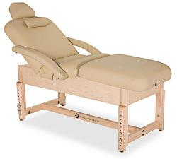 Living Earth Crafts Sonoma Pneumatic Power Assist Salon Top Treatment Table with Trestle Base