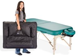 Living Earth Crafts Spirit Portable Massage Table Package (Flex-rest & Carry Case)