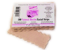 "Depileve D425 Natural Muslin Facial Strips 1"" x 3"""